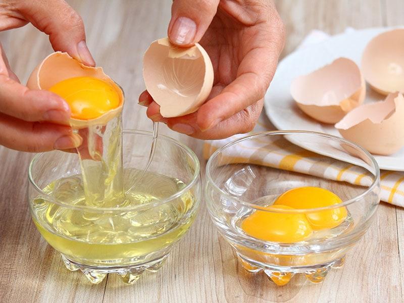 Breaking Egg Separate White