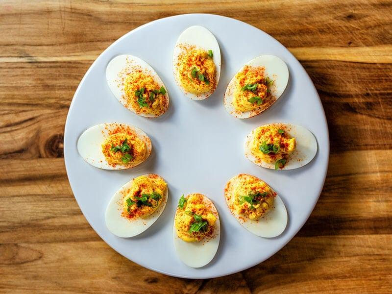 Deviled Eggs Paprika Green