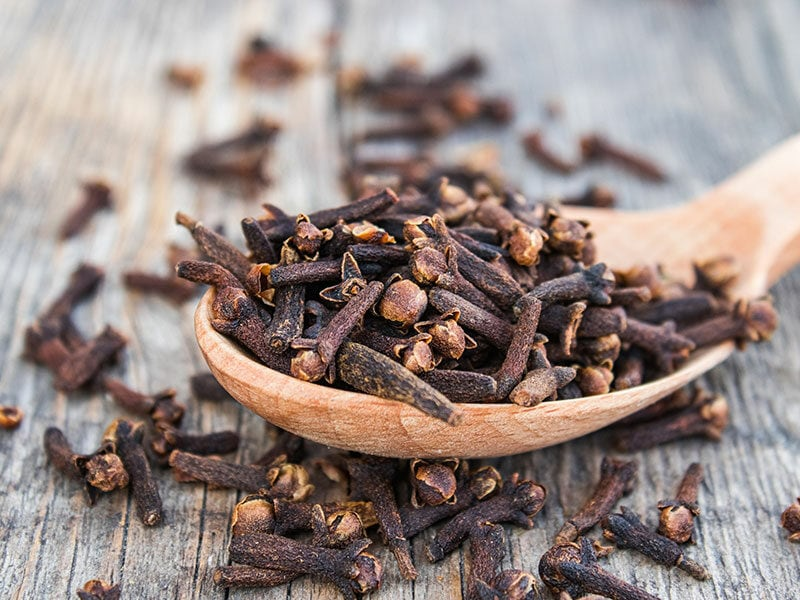 Dried Cloves Wooden Spoon