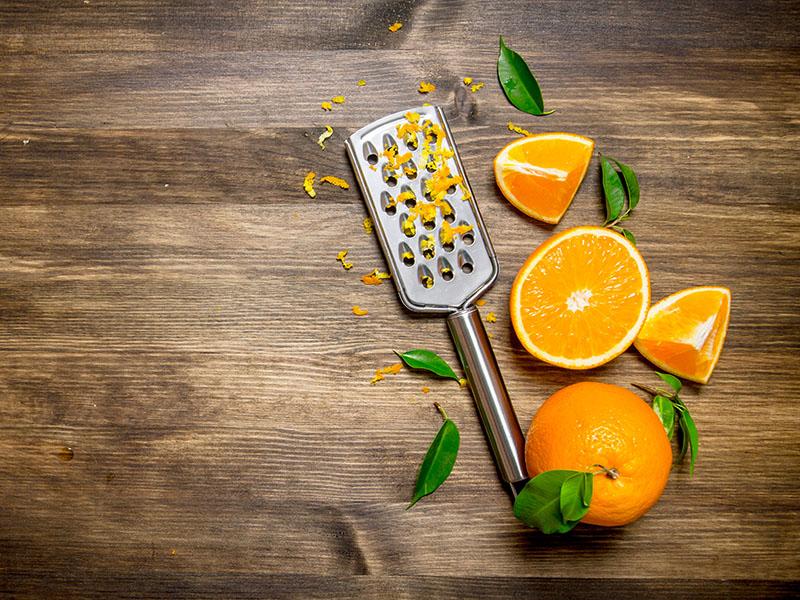 Fresh Oranges Grater Zest