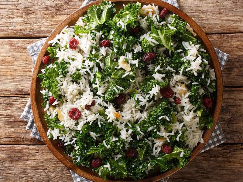 Garlic Basmati Rice Kale