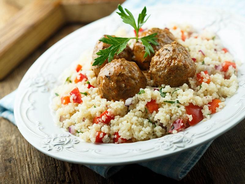 Meatballs Couscous Vegetables