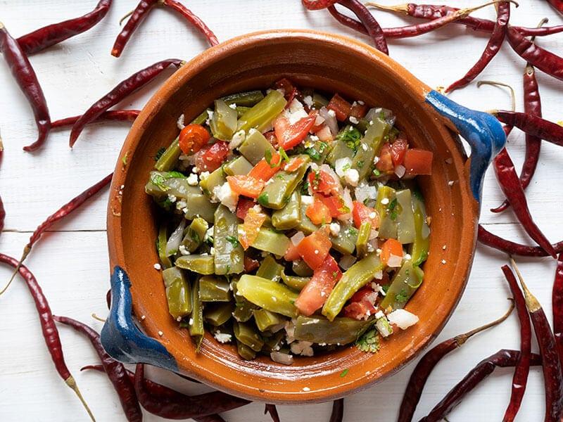 Mexican Nopal Cactus Salad
