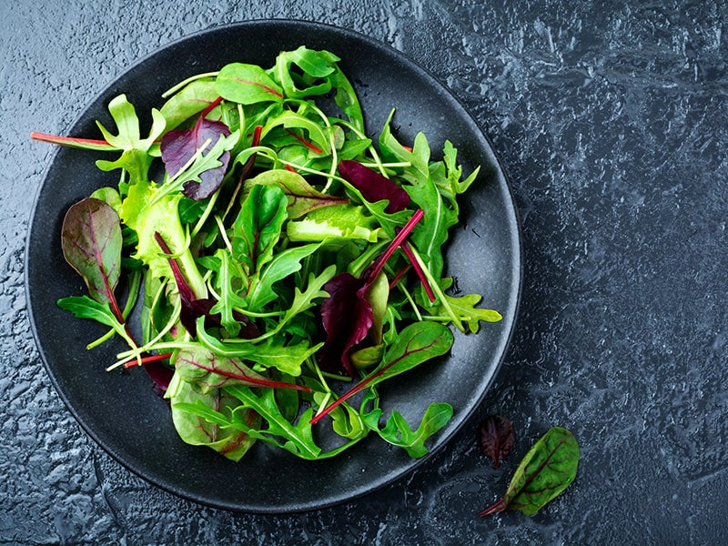 Mix Fresh Leaves Arugula Lettuce