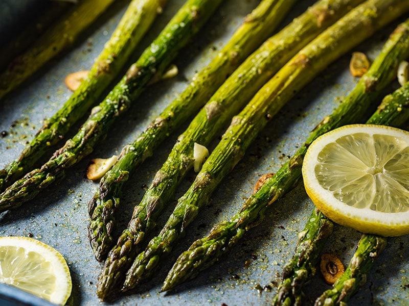 Roasted Green Asparagus Lemon