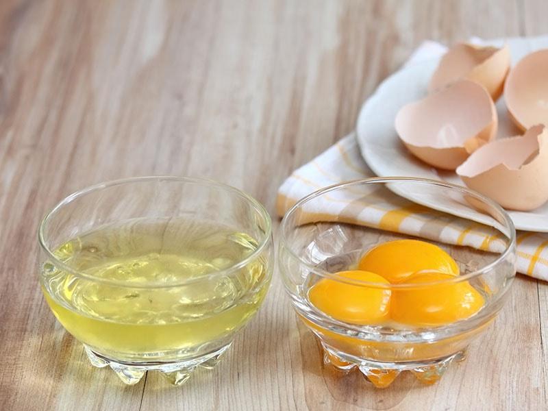 Separated Egg White Yolks