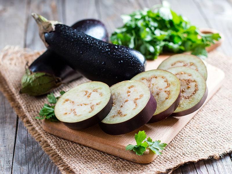 Sliced Eggplant