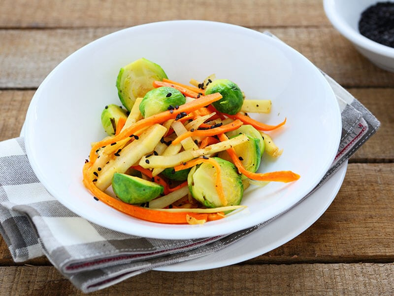 Yummy Carrot Brussels Sprouts
