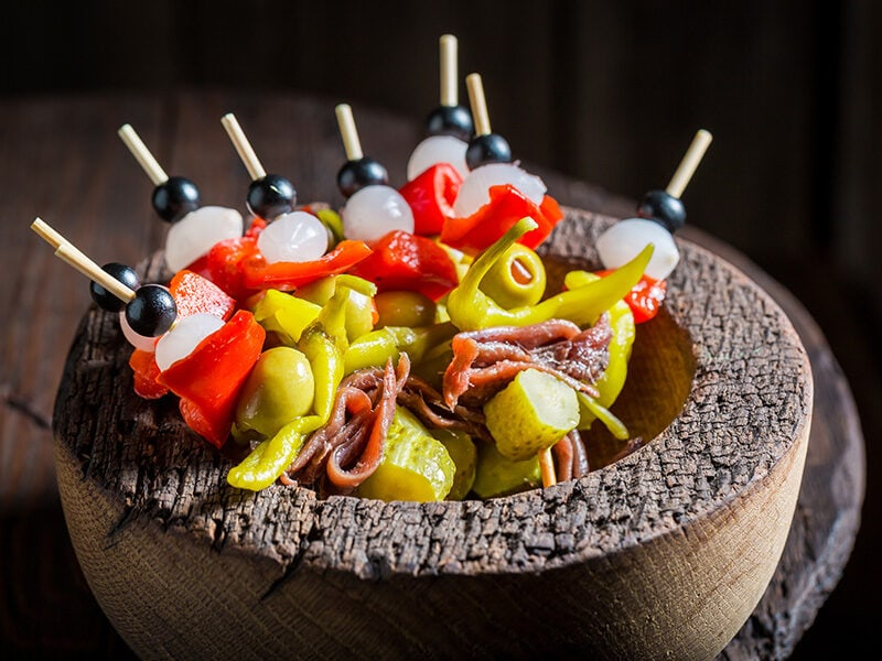 Banderillas Peppers Olives Anchovies