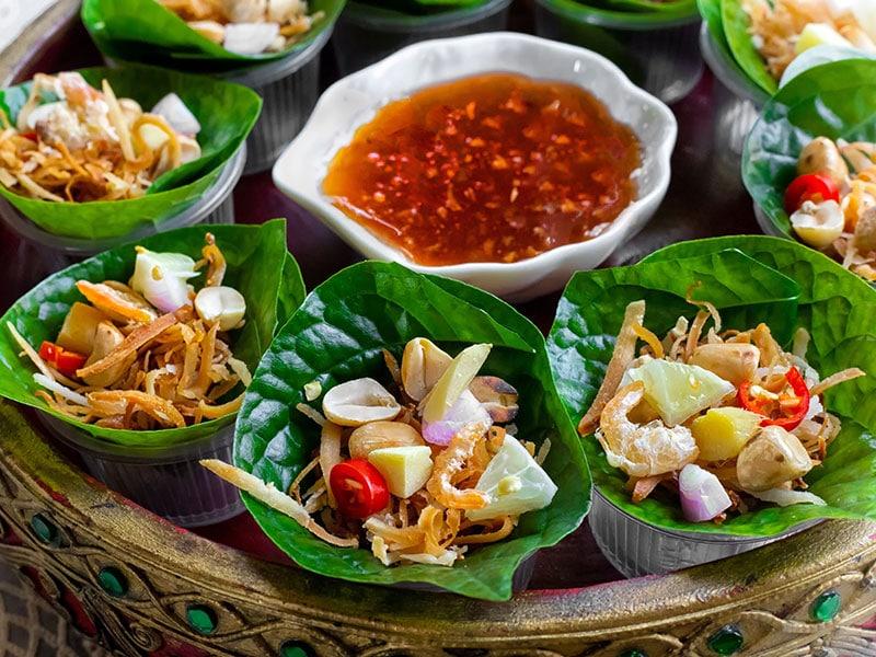 Colorful Dish Of Miang Kham