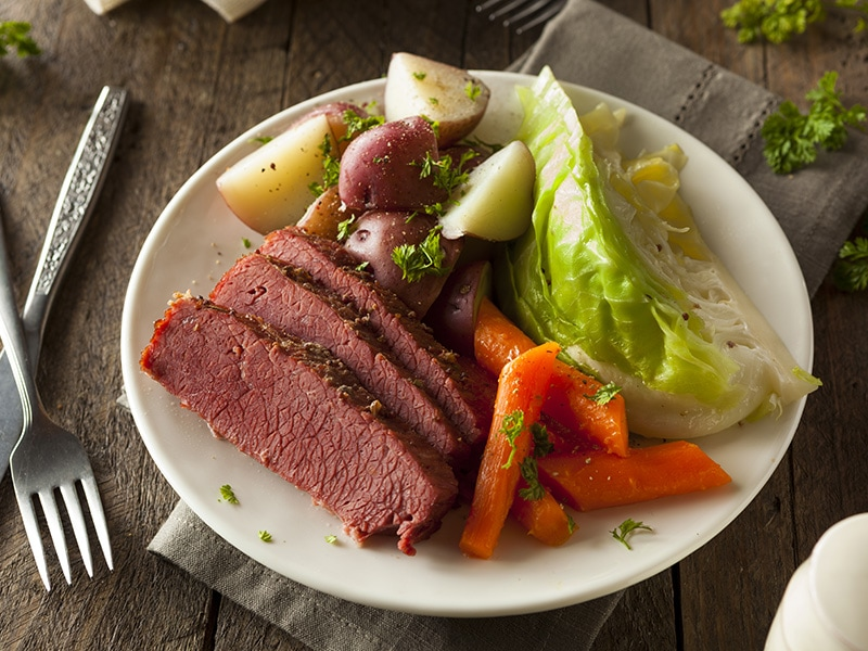 Corned beef is the brisket