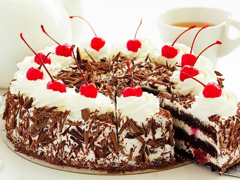 Dessert With Fresh Cherries
