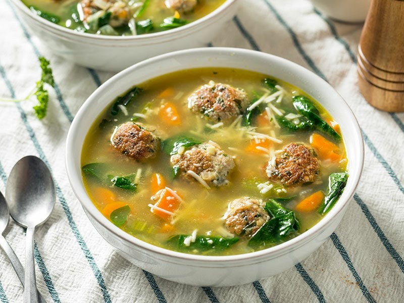 Soup Spinach Meatballs