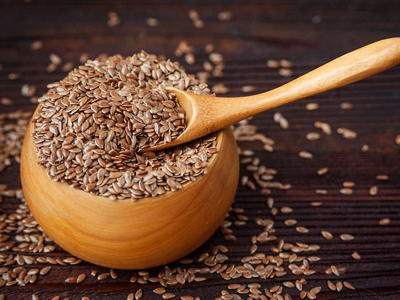 Bowl Flax Seeds