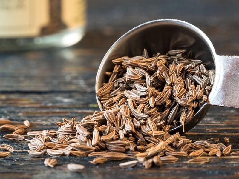 Caraway Seeds Spilled