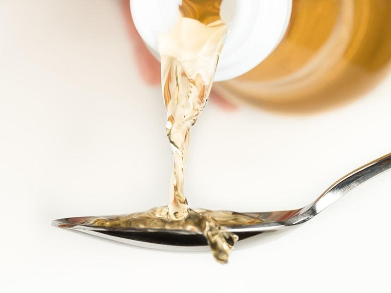 Pouring Rice Vinegar